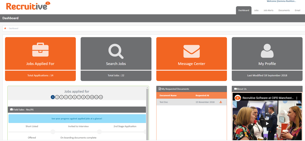Recruitive Software Candidate Management Portal