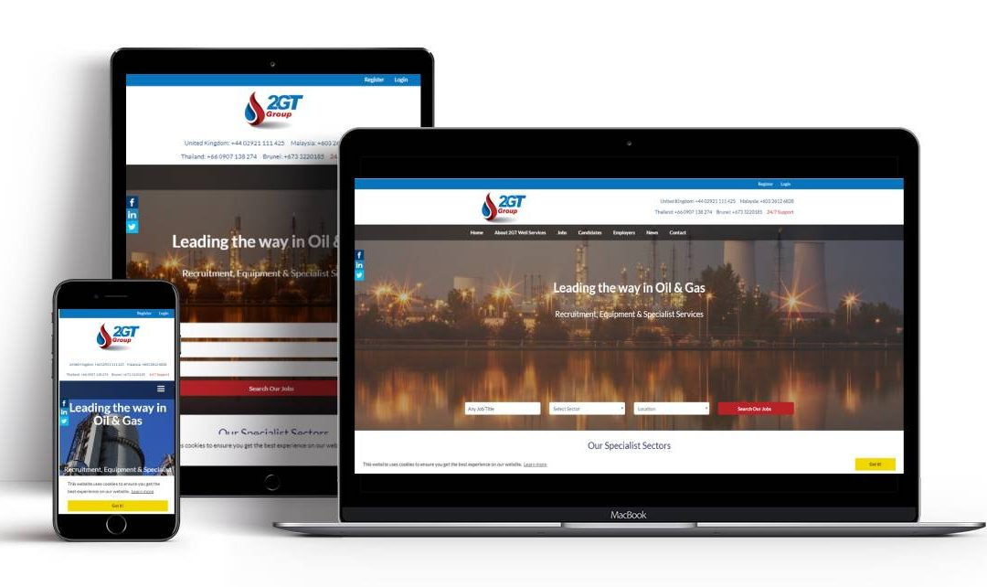 2GT Recruitment Website For The Gas and Oil Sector