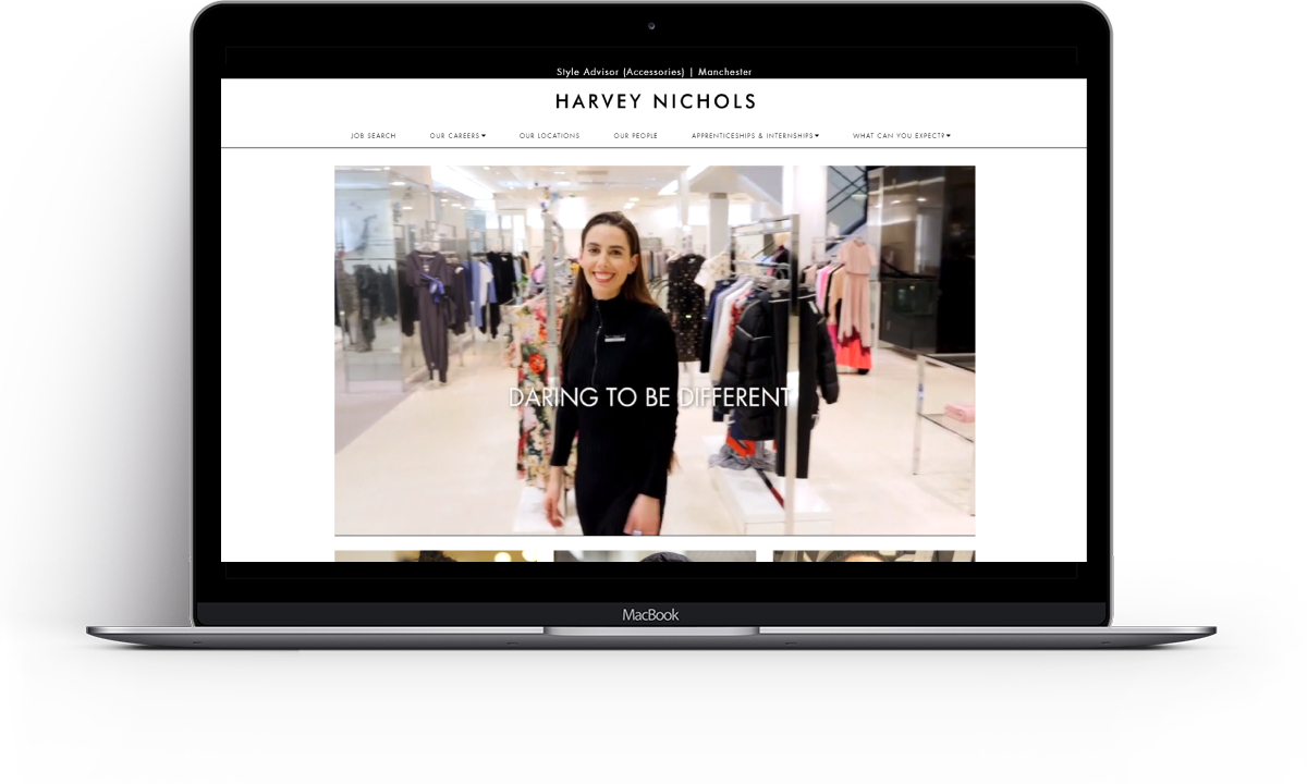Recruitive Harvey Nichols ATS System, Careers Website