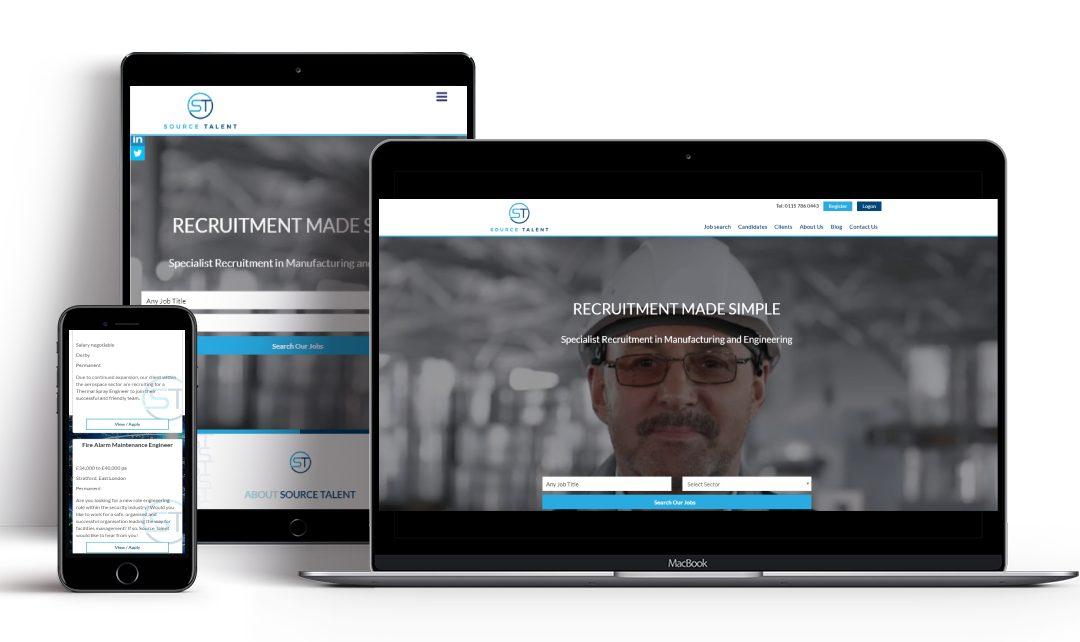 Recruitive Launch Source Talent's New Recruitment Website