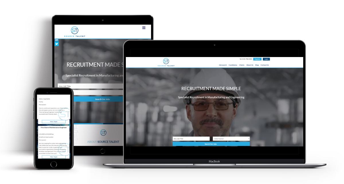 Source Talent Recruitment Website