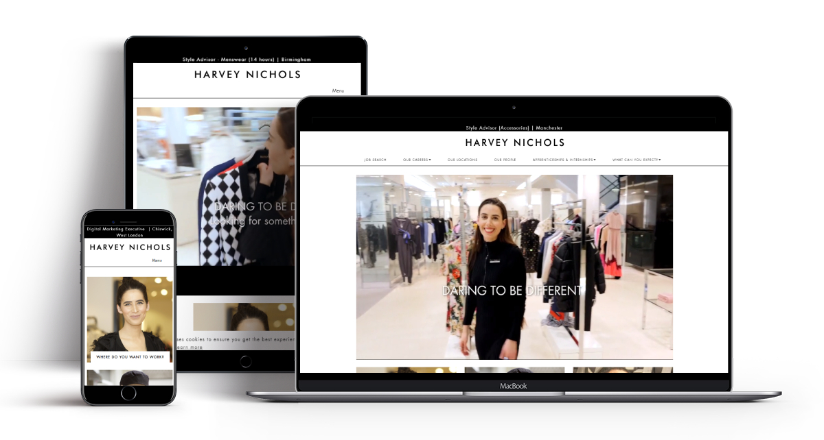 Recruitive Software Harvey Nichols Applicant Tracking Software, Careers Website