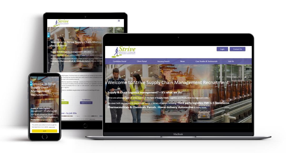 Recruitment Website Strive By Recruitive