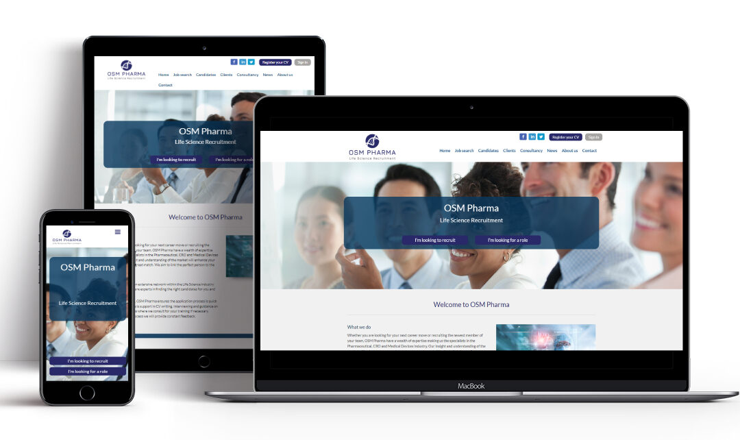 OSM Pharma: A Bespoke Recruitment Website for the Life Science Sector
