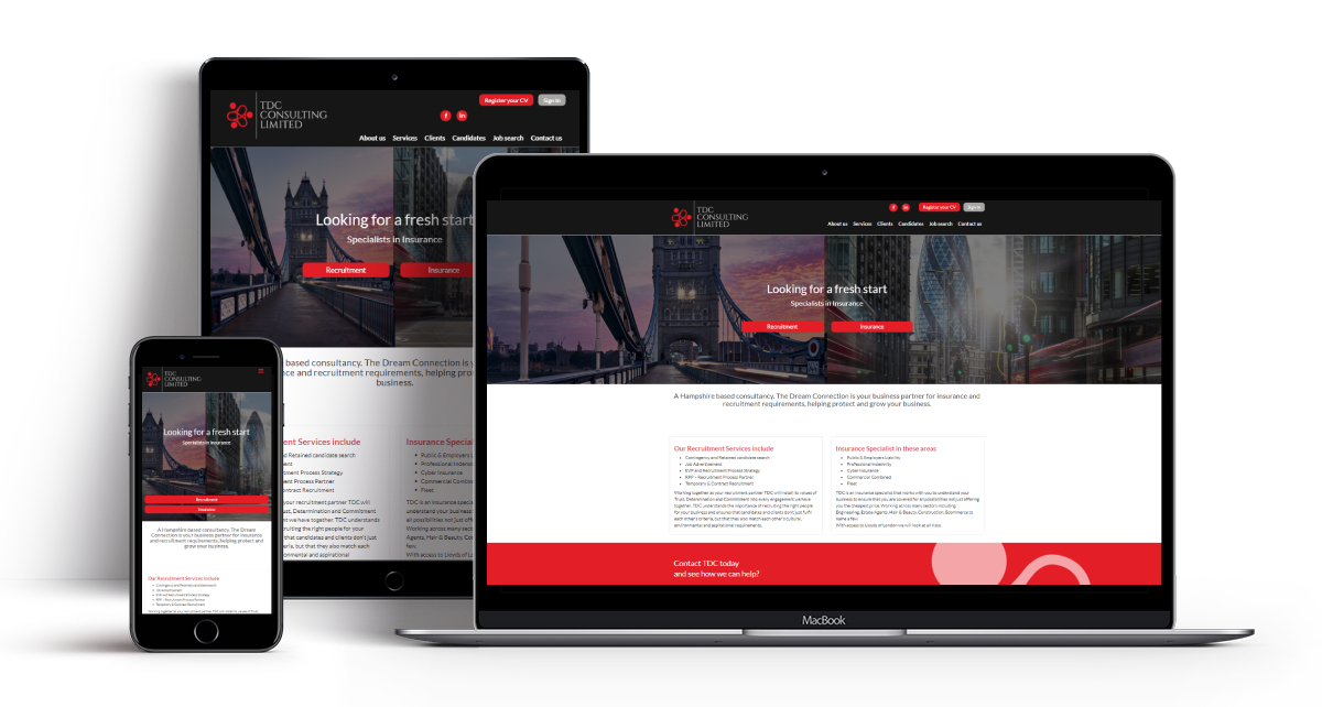 TDC Recruitment & Commercial Insurance Website